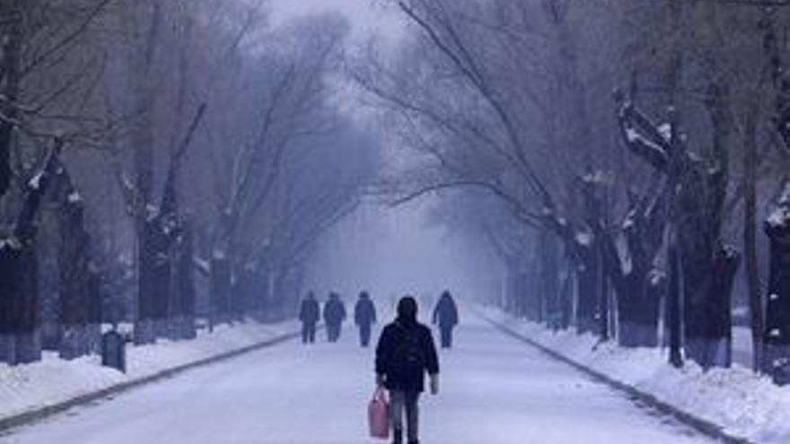 Ola de frío en el sur de China. (REUTERS)