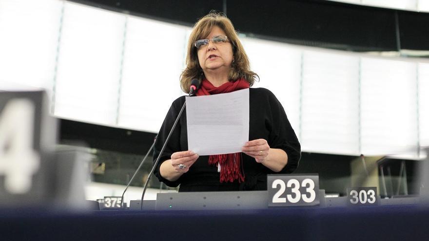 Paloma López,  eurodiputada de IU.