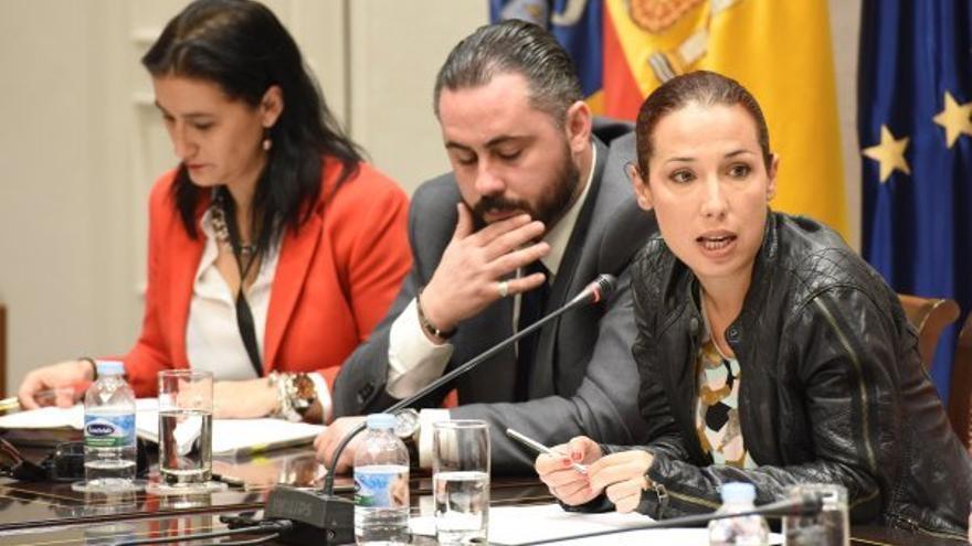 El director del Instituto Canario de la Vivienda, José Gregorio Pérez, junto a la vicepresidenta del Gobierno de Canarias, Patricia Hernández (d) / Consejería de Empleo, Políticas Sociales y Vivienda