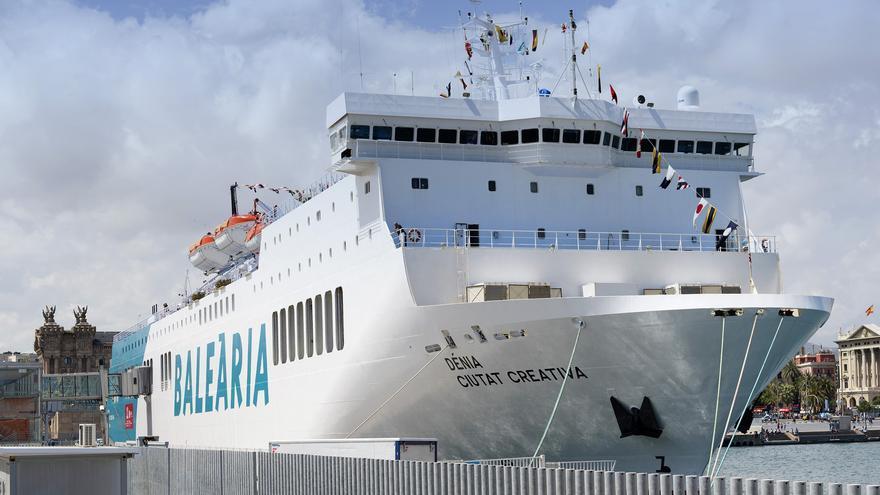 El ferry de Baleària Dénia Ciutat Creativa.
