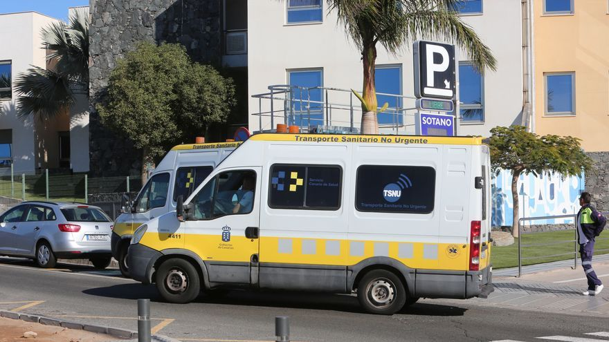 Ambulancia en el sur de Gran Canaria.