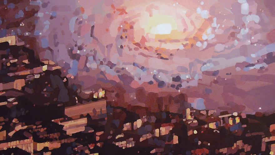 Una de las obras que componen la exposición 'City of stars'.