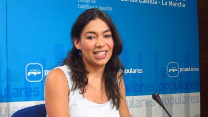Claudia Alonso, portavoz del PP regional y candidata a la Alcaldía de Toledo