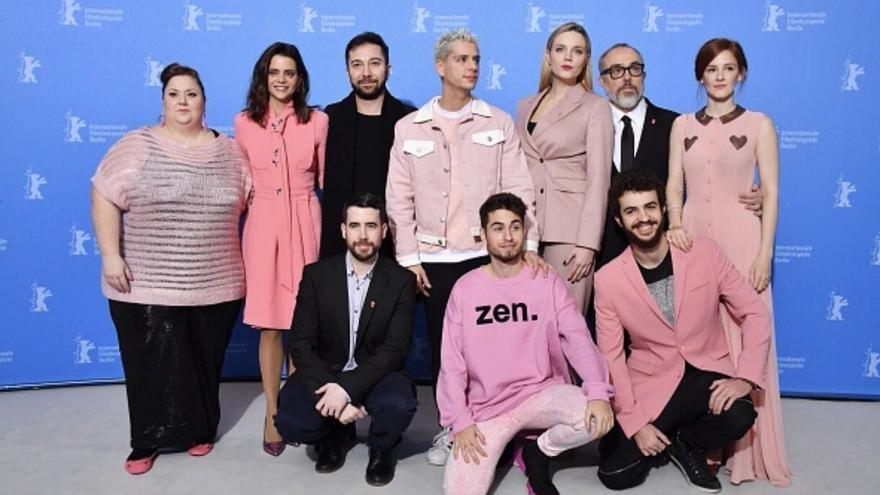 El equipo de 'Pieles' posa en la Berlinale 2017