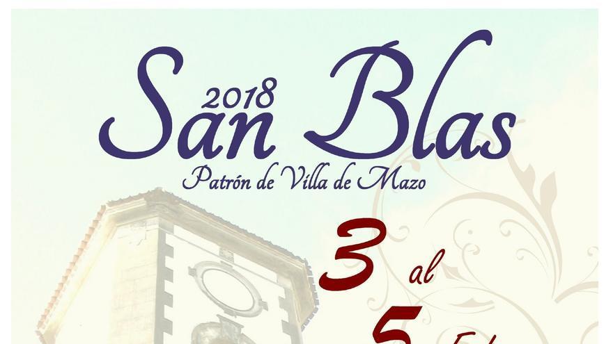 Cartel de las fiestas patronales de San Blas.