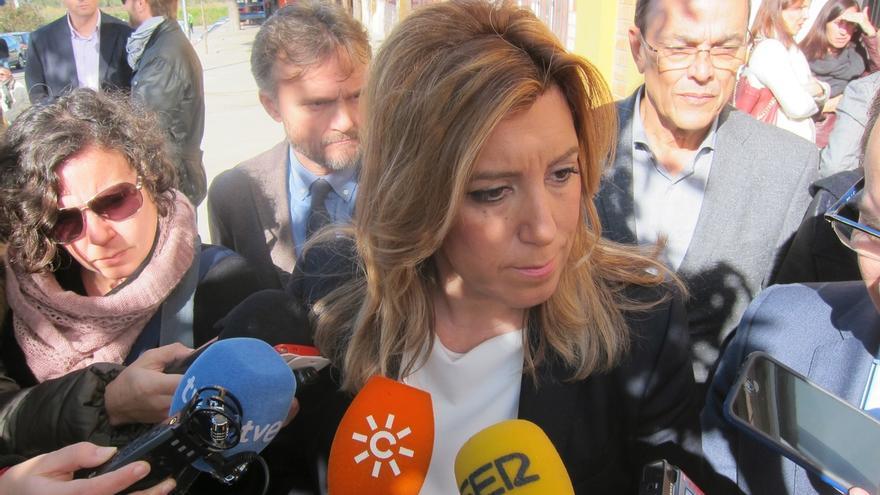 """Susana Díaz pone la crisis de IU Madrid como ejemplo de la """"inestabilidad"""" de la que advirtió en Andalucía"""
