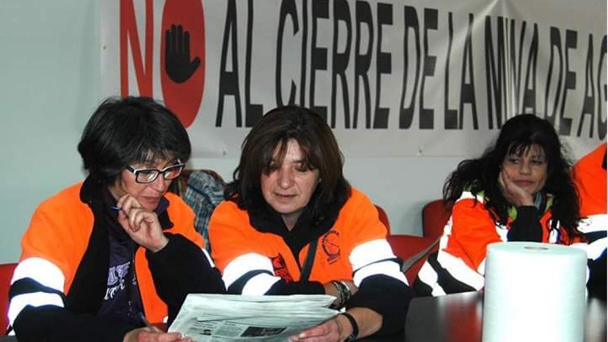 Encierro de los trabajadores de Aguablanca en Monesterio / CCOO