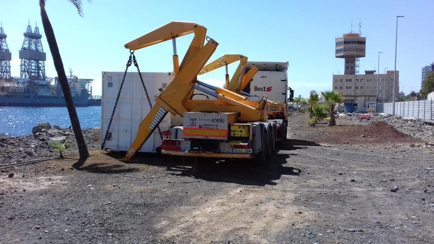 Acción de saneamiento de la zona portuaria Capitanía Marítima-explanada Ligrasa