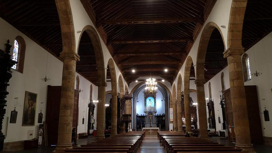 Interior de la iglesia matriz de la Concepción, en el casco histórico protegido de la ciudad de La Laguna