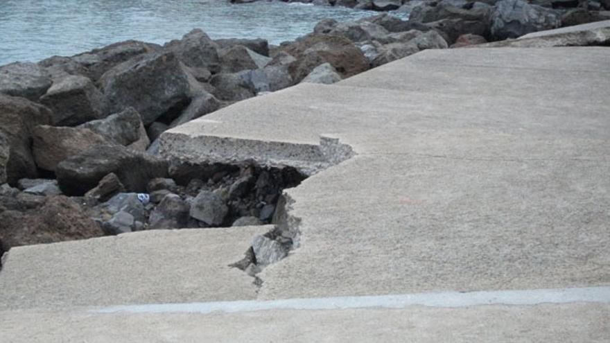 De los destrozos en Playa de Mogán #2