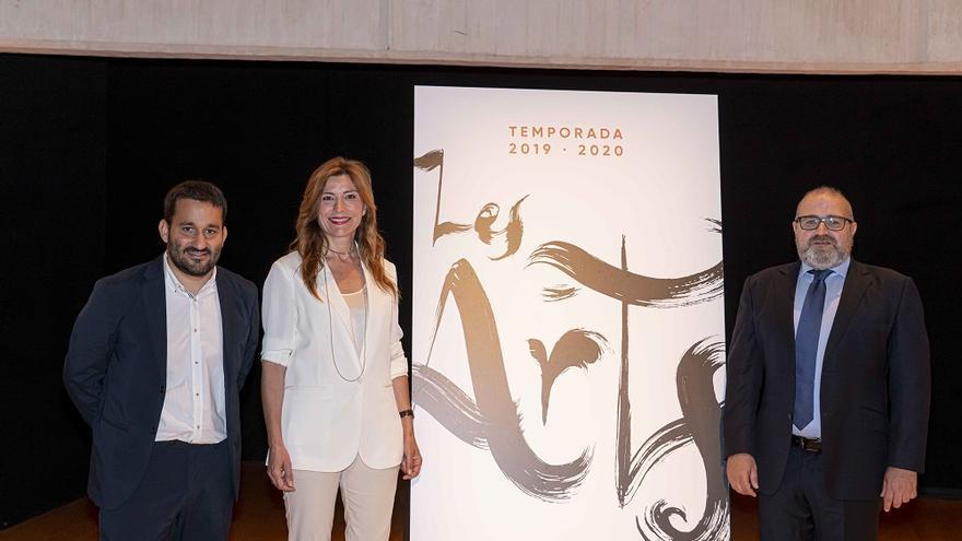 El conseller de Educación, Investigación, Cultura y Deporte, Vicent Marzà; la presidenta del Patronato de Les Arts, Susana Lloret; y el director artístico del Palau de Les Arts, Jesús Iglesias Noriega.