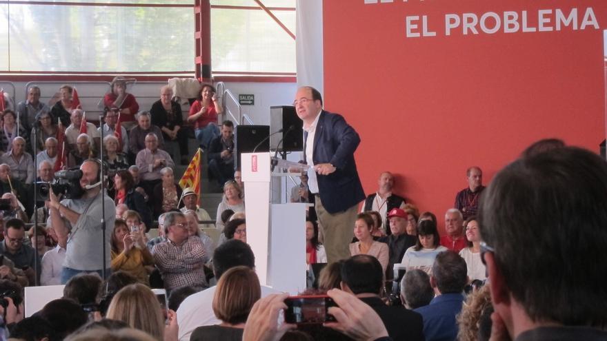 """Iceta dice que la ley y la democracia se impondrán sobre """"los caprichos"""" de los independentistas"""