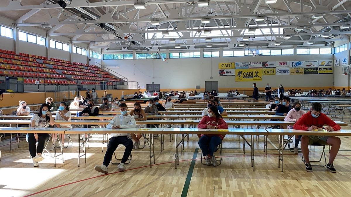 Estudiantes en la PAU en la Seu d'Urgell (Lleida) este curso