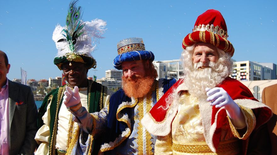 The Three Kings celebrate their holiday on Gran Canaria in January