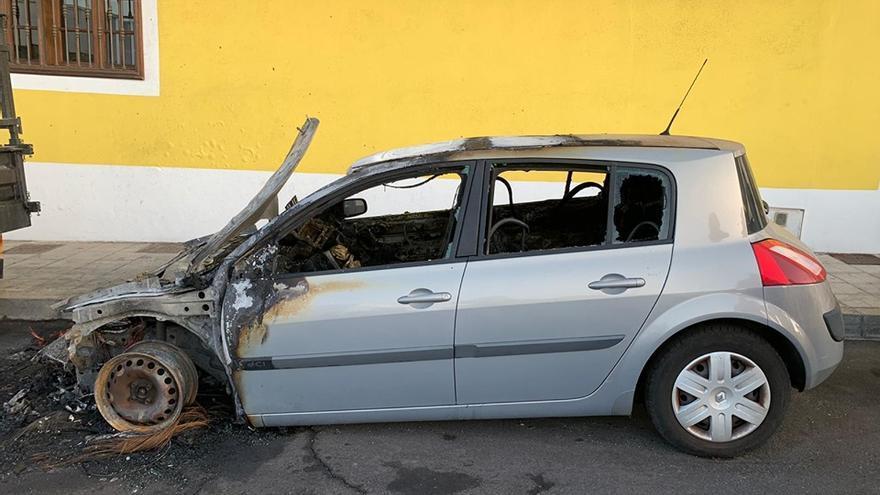 En la imagen, el coche siniestrado.