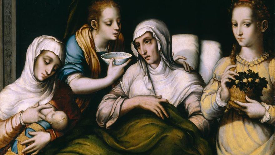 'El nacimiento de la vírgen', Luis de Morales (1560 - 1570)