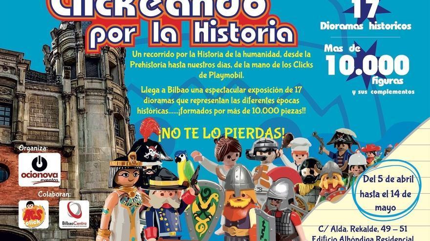 Edificio Alhóndiga Bilbao acoge la exposición Clickeando por la historia', con 10.000 figuras de Playmobil y 17 dioramas