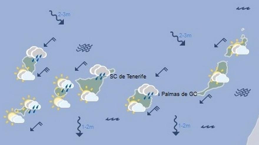 El tiempo en Canarias para este domingo, 22 de octubre