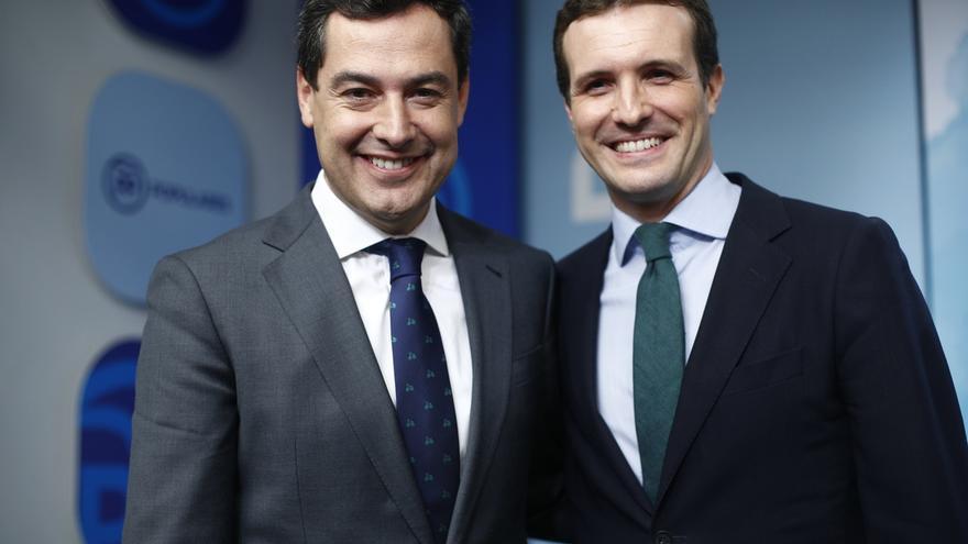 """Casado y Moreno avisan a Cs que si no apoya el cambio liderado por el PP pagará la """"traición"""" en las urnas"""