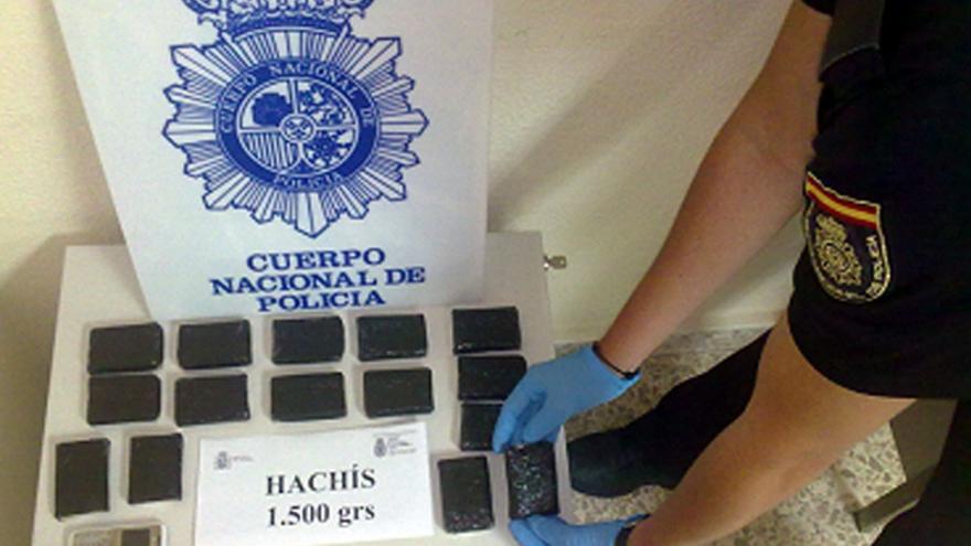 Cantidad decomisada por la Policía Nacional. (ACFI PRESS)