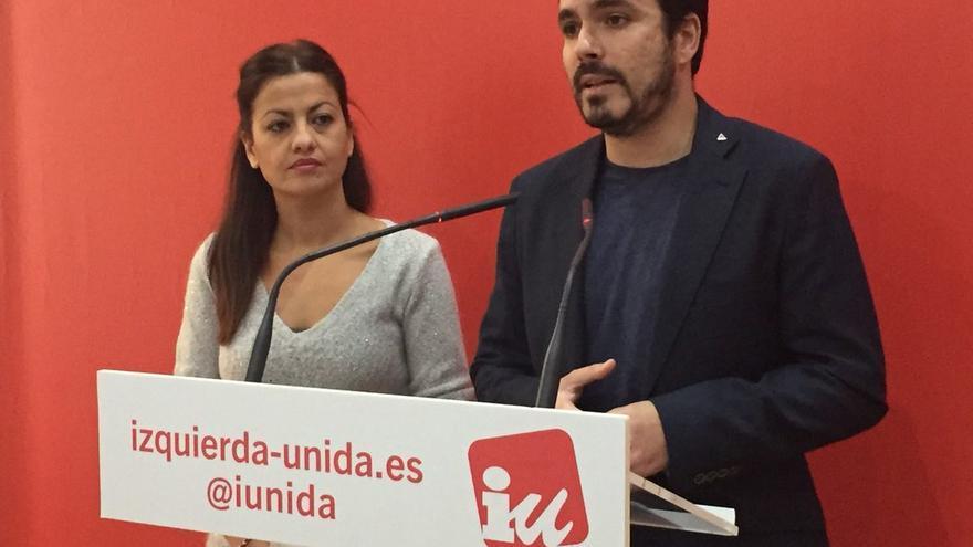 Sira Rego y Alberto Garzón.