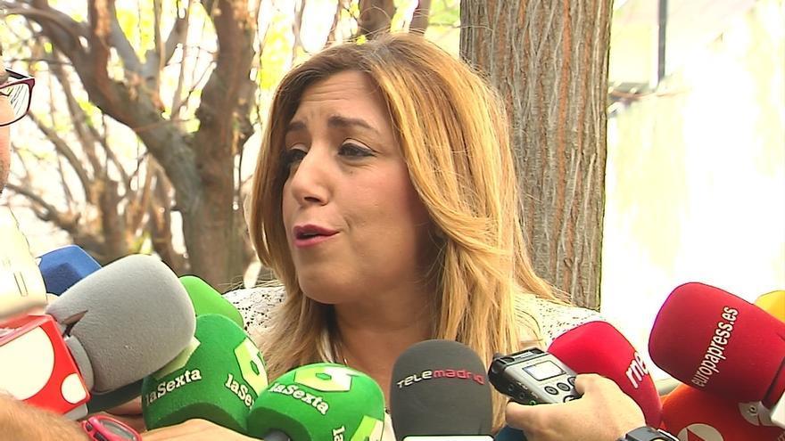 """Susana Díaz confía en que los diputados del PSC """"van a actuar con responsabilidad"""""""