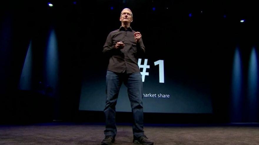 Tim Cook presenta el iPhone 5