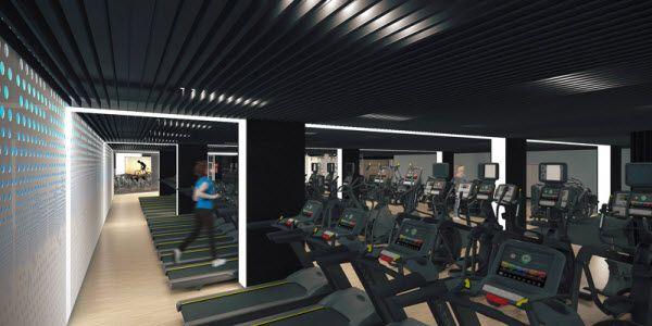 Sala de indoor walking del futuro CDM de Barceló | Imagen: Forus