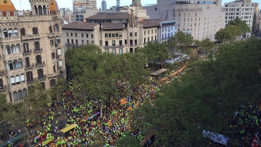 El Gobierno asegura que la asistencia a la manifestación ha sido la menos numerosa de los últimos años