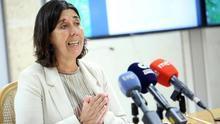 La viceconsejera en funciones de Medio Ambiente del Gobierno de Canarias, Blanca Pérez, durante la presentación de los proyectos MAC.