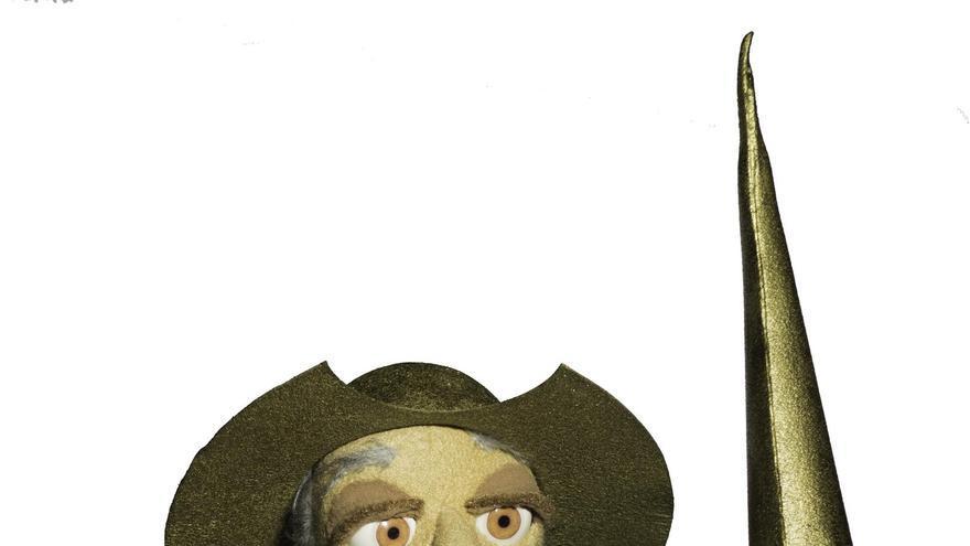 Imagen del personaje de Don Quijote de la obra de títeres 'A leer el Quijote'.