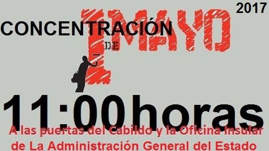 Cartel de la concentración de la Plataforma de Personas Desempleadas.