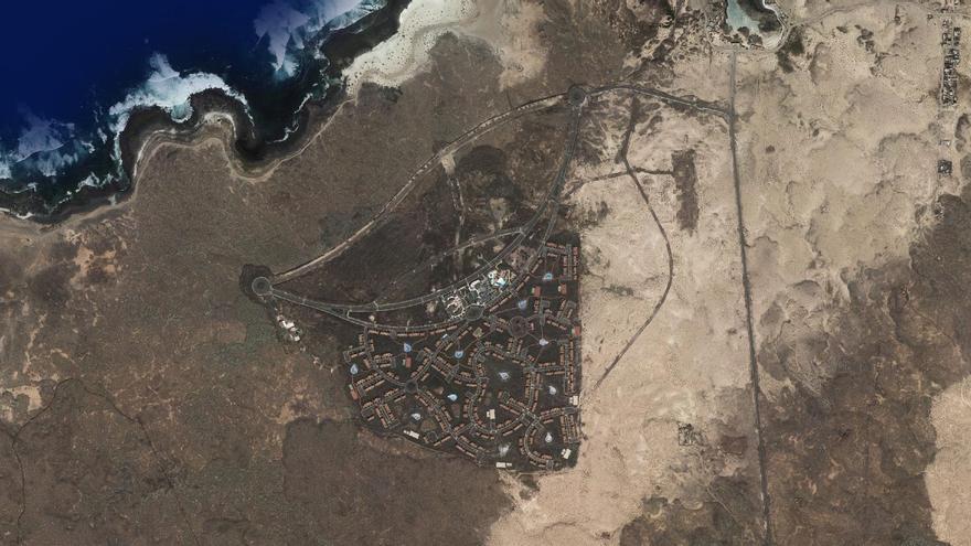 Vista aérea de la Urbanización Majanicho