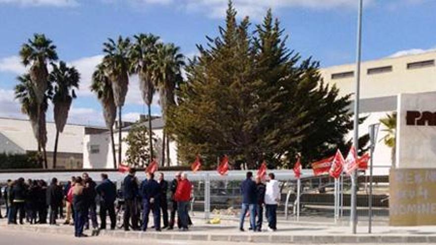 Imagen de una protesta de los trabajaodres de Reig Martí