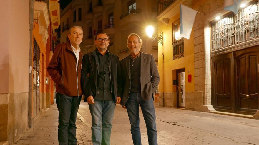 De izquierda a derecha, los arquitectos Carles Dolç, Carmel Gradolí y Tato Herrero.