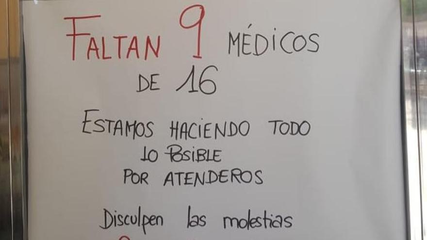 Imagen de la protesta del centro de salud 'Alicante' de Fuenlabrada.
