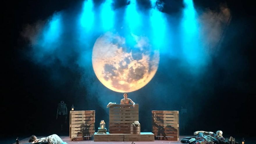 Representación de 'Bojiganga', de Teatro del Cuervo.
