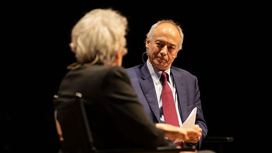 Iragorri participó en la conversación inaugural del XX Congreso de Periodismo Digital de Huesca junto a la directora de El País, Soledad Gallego-Díaz