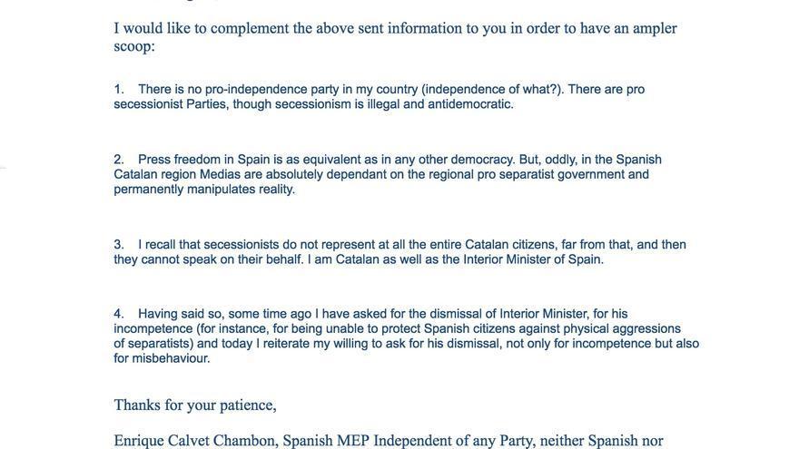 Bronca por mail de los eurodiputados tremosa cdc y for Mail zimbra ministerio del interior