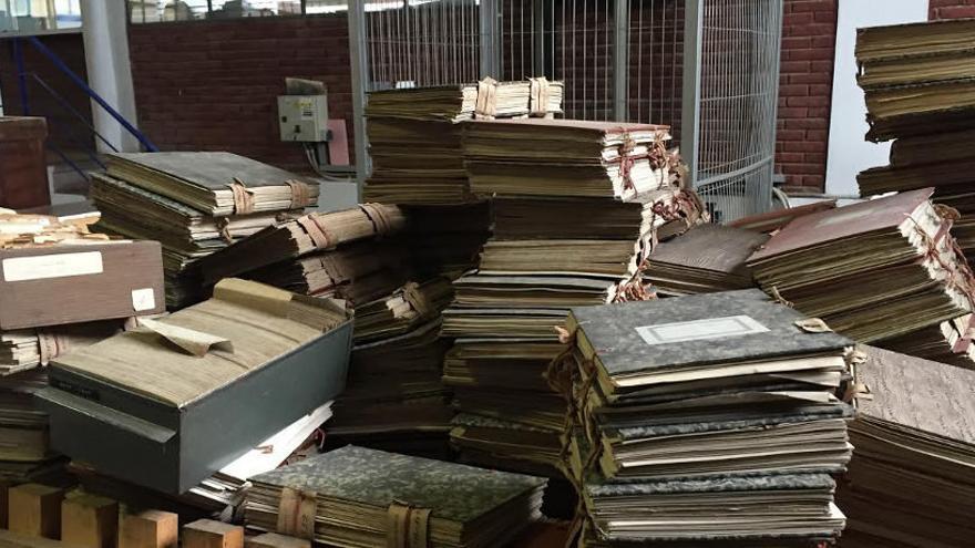 Estado en el que se encuentran almacenados documentos del Archivo Municipal de Santander.