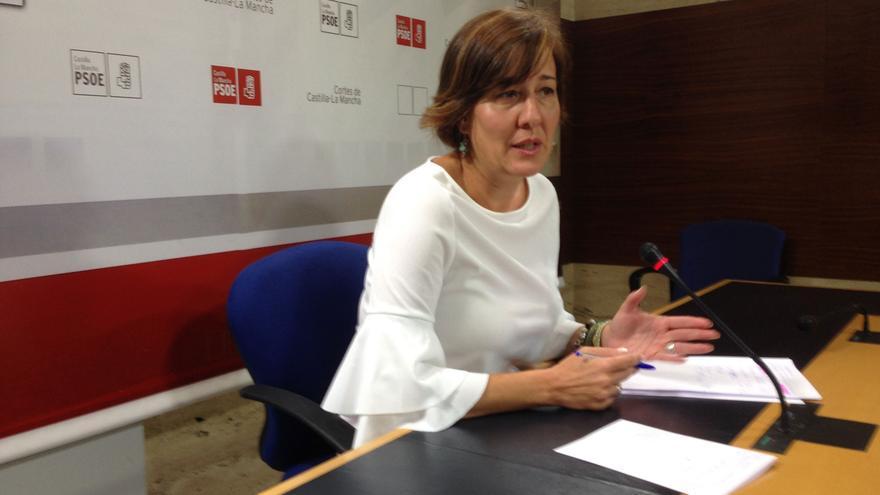 La portavoz del Grupo Socialista en las Cortes, Blanca Fernández