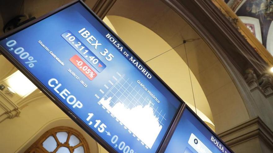 La banca empuja al IBEX 35 a superar los 10.300 puntos tras rebotar un 1,08 por ciento