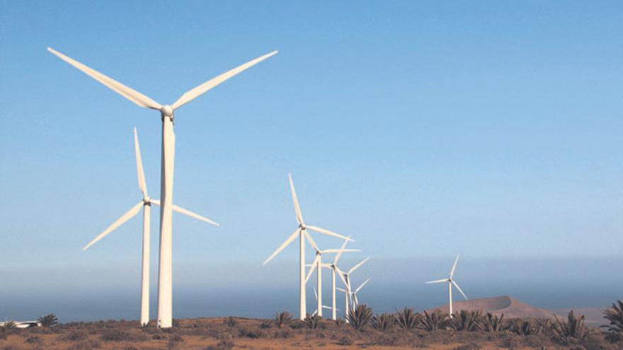 Parque eólico de Los Valles. (Diario de Lanzarote).