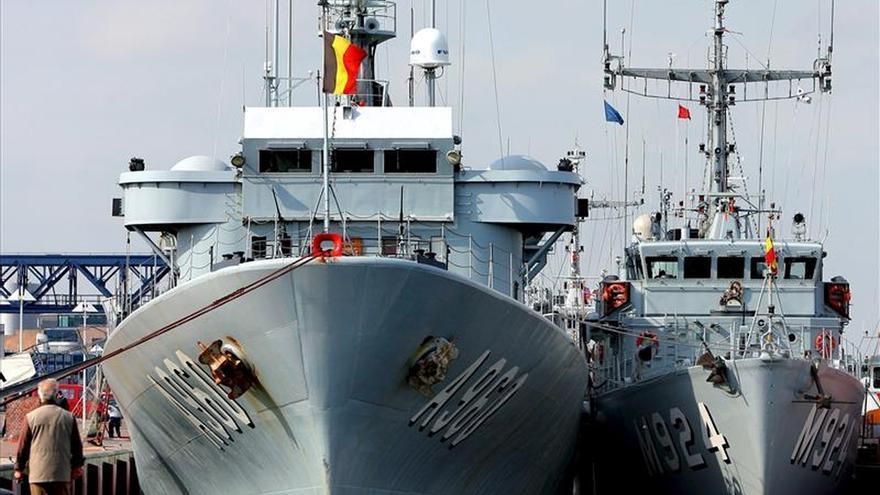 La Marina belga rescata a 200 inmigrantes en el Mediterráneo