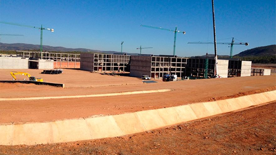 Obras del centro penitenciario Levante II de Siete Aguas