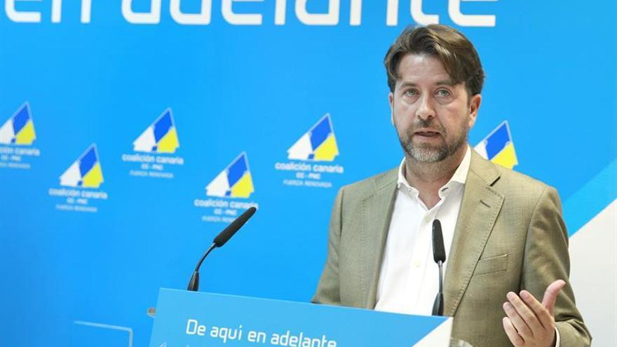 Carlos Alonso, candidato de CC, la fuerza más votada al Cabildo tinerfeño.