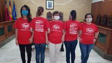 Donación de camisetas de la empresa TGT