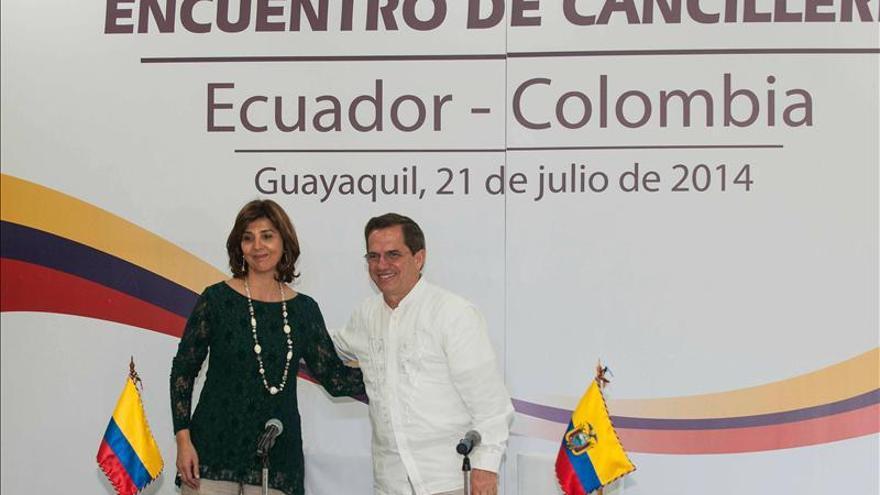 Los cancilleres de Colombia y Ecuador se reúnen para profundizar relaciones