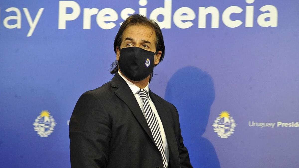 El presidente uruguayo, Luis Lacalle Pou