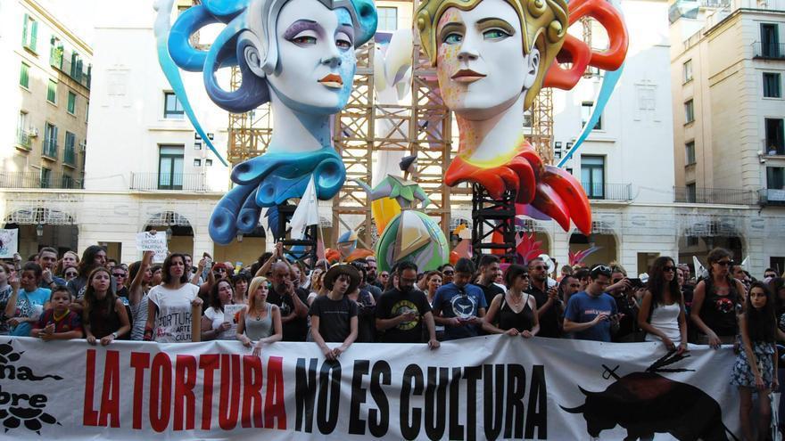 La manifestación antitaurina del año pasado